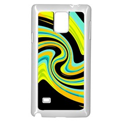 Blue and yellow Samsung Galaxy Note 4 Case (White)