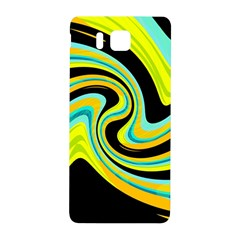 Blue and yellow Samsung Galaxy Alpha Hardshell Back Case