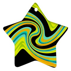 Blue and yellow Ornament (Star)