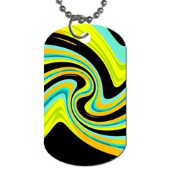 Blue and yellow Dog Tag (Two Sides)
