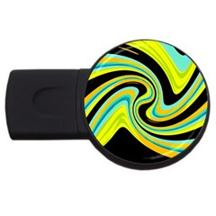 Blue and yellow USB Flash Drive Round (1 GB)