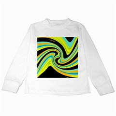 Blue and yellow Kids Long Sleeve T-Shirts