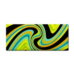 Blue and yellow Hand Towel