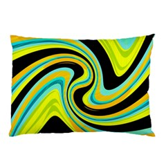 Blue and yellow Pillow Case