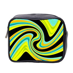 Blue and yellow Mini Toiletries Bag 2-Side
