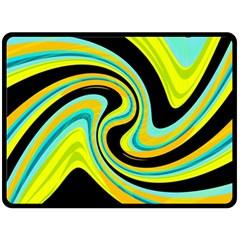 Blue and yellow Fleece Blanket (Large)