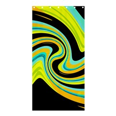 Blue and yellow Shower Curtain 36  x 72  (Stall)