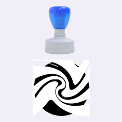 Blue and yellow Rubber Round Stamps (Medium)