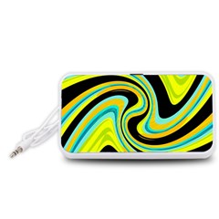 Blue and yellow Portable Speaker (White)