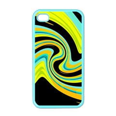Blue and yellow Apple iPhone 4 Case (Color)