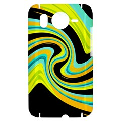 Blue and yellow HTC Desire HD Hardshell Case