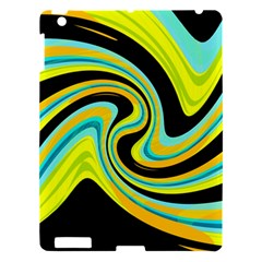 Blue and yellow Apple iPad 3/4 Hardshell Case