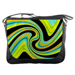 Blue and yellow Messenger Bags