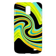 Blue and yellow Samsung Galaxy S II Skyrocket Hardshell Case
