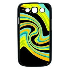 Blue and yellow Samsung Galaxy S III Case (Black)