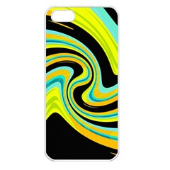 Blue and yellow Apple iPhone 5 Seamless Case (White)