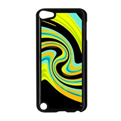 Blue and yellow Apple iPod Touch 5 Case (Black)