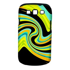 Blue and yellow Samsung Galaxy S III Classic Hardshell Case (PC+Silicone)