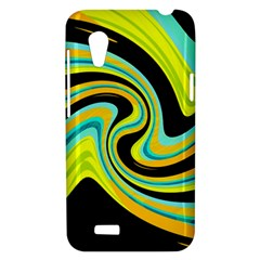 Blue and yellow HTC Desire VT (T328T) Hardshell Case