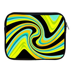 Blue and yellow Apple iPad 2/3/4 Zipper Cases