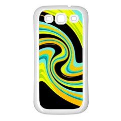 Blue and yellow Samsung Galaxy S3 Back Case (White)