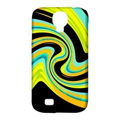 Blue and yellow Samsung Galaxy S4 Classic Hardshell Case (PC+Silicone)