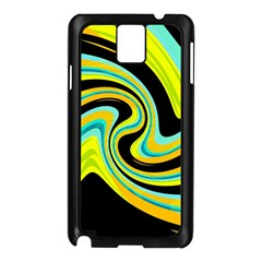 Blue and yellow Samsung Galaxy Note 3 N9005 Case (Black)