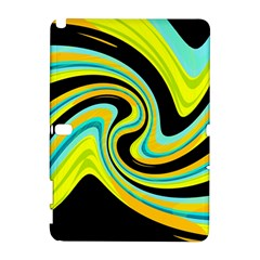 Blue and yellow Samsung Galaxy Note 10.1 (P600) Hardshell Case