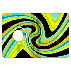 Blue and yellow Kindle Fire HDX Flip 360 Case