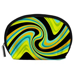 Blue and yellow Accessory Pouches (Large)