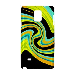 Blue and yellow Samsung Galaxy Note 4 Hardshell Case