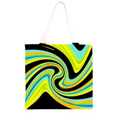 Blue and yellow Grocery Light Tote Bag