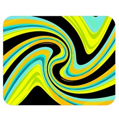 Blue and yellow Double Sided Flano Blanket (Medium)