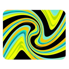 Blue and yellow Double Sided Flano Blanket (Large)