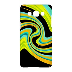 Blue and yellow Samsung Galaxy A5 Hardshell Case