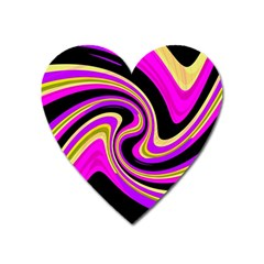 Pink and yellow Heart Magnet