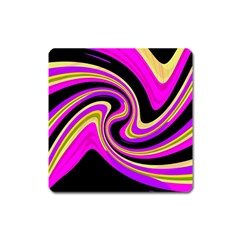 Pink and yellow Square Magnet