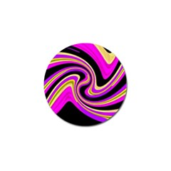 Pink and yellow Golf Ball Marker (4 pack)