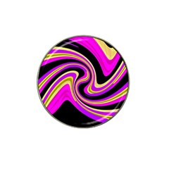 Pink and yellow Hat Clip Ball Marker (4 pack)