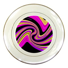 Pink and yellow Porcelain Plates