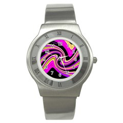 Pink and yellow Stainless Steel Watch