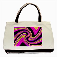 Pink and yellow Basic Tote Bag