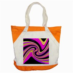 Pink and yellow Accent Tote Bag