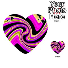 Pink and yellow Playing Cards 54 (Heart)