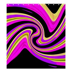 Pink and yellow Shower Curtain 66  x 72  (Large)