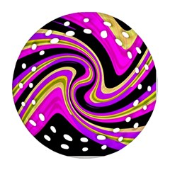 Pink and yellow Ornament (Round Filigree)
