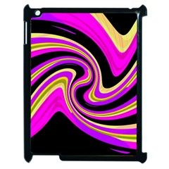 Pink and yellow Apple iPad 2 Case (Black)