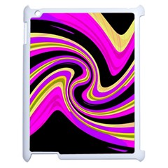 Pink and yellow Apple iPad 2 Case (White)