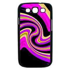 Pink and yellow Samsung Galaxy S III Case (Black)