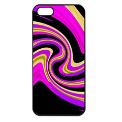 Pink and yellow Apple iPhone 5 Seamless Case (Black)